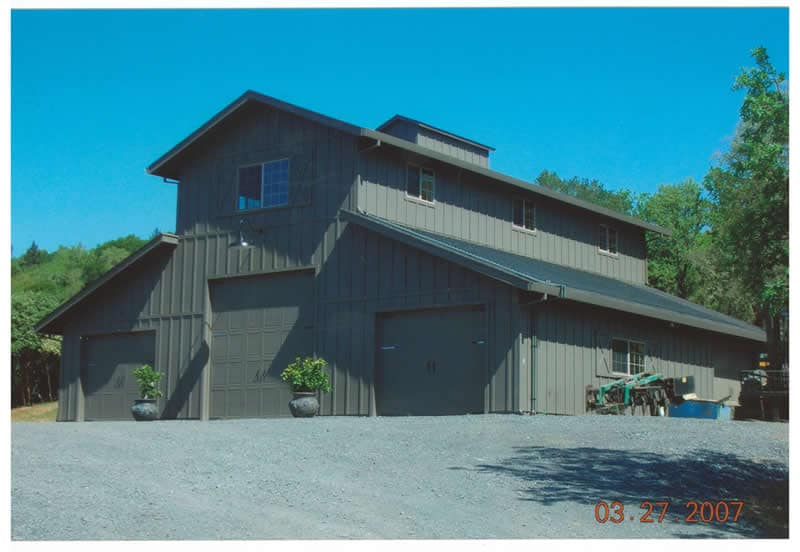 Storage Barn with Living Space, Healdsburg CA