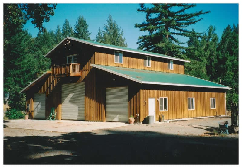 Log Home With Horse Facility
